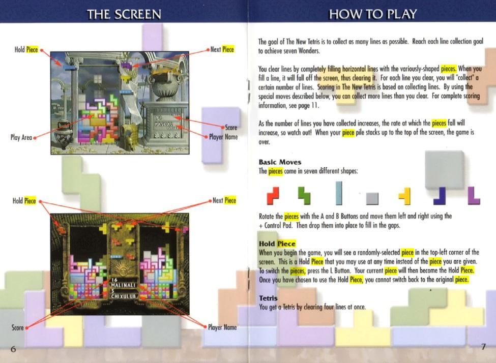 Tetris Terminology
